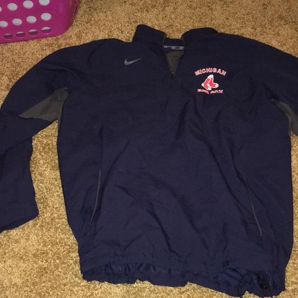 Navy Michigan Red Sox Nike Quarter Zip